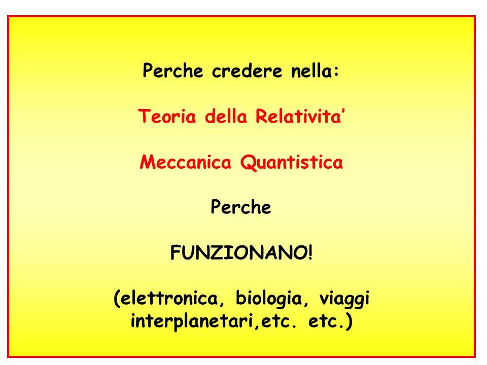 Perche credere nella: Teoria della Relativita Meccanica Quantistica Perche FUNZIONANO! (elettronica, biologia, viaggi interplanetari,etc. etc.)