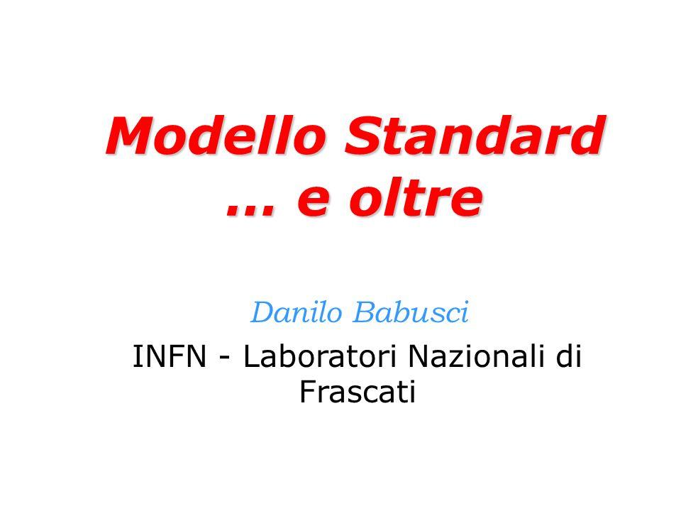 Modello Standard … e oltre Danilo Babusci INFN - Laboratori Nazionali di Frascati