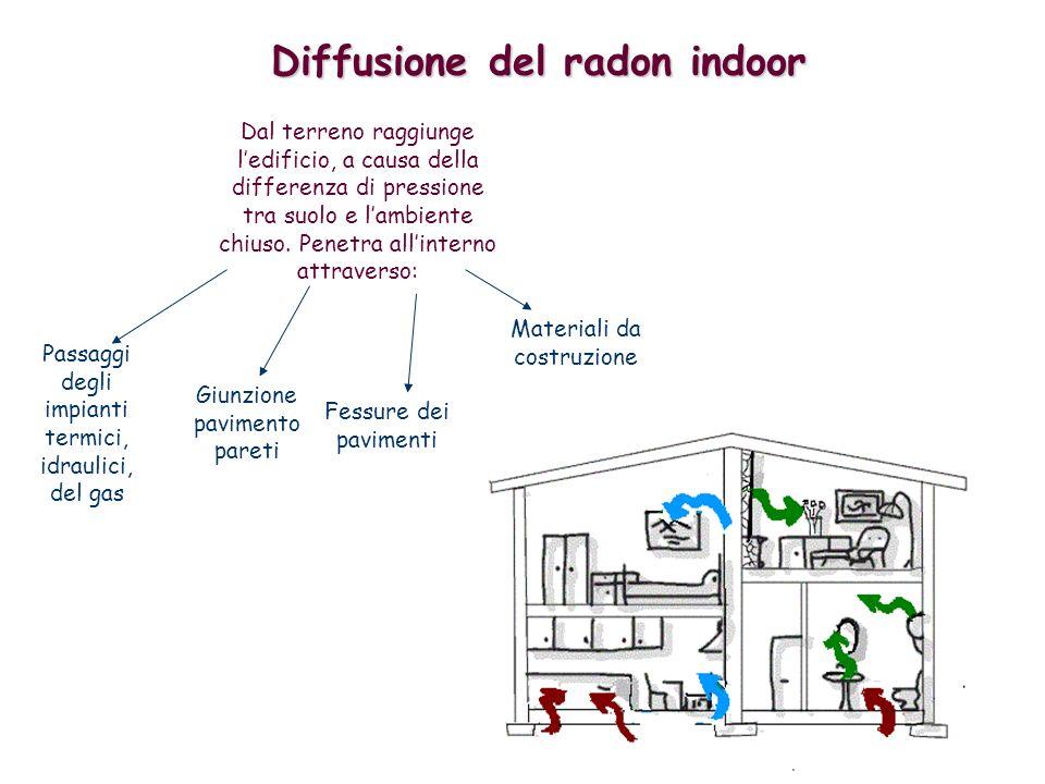Sistema per evidenziare la presenza del radon E possibile risalire alla presenza del radon,attraverso lutilizzo di un dispositivo,il RIVELATORE.