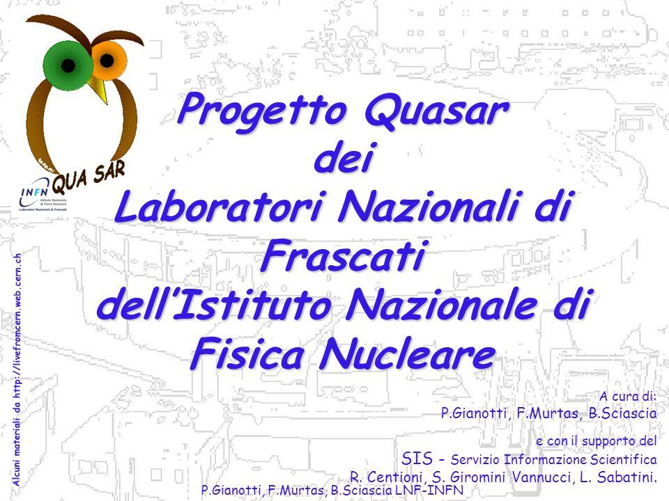 P.Gianotti, F.Murtas, B.Sciascia LNF-INFN A cura di: P.Gianotti, F.Murtas, B.Sciascia e con il supporto del SIS - Servizio Informazione Scientifica R.