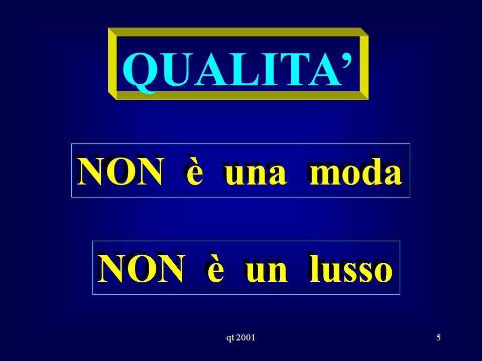 qt 20015 QUALITA NON è una moda NON è un lusso
