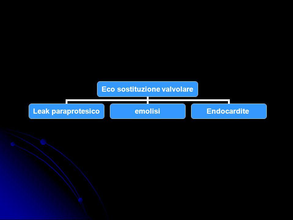Eco sostituzione valvolare Leak paraprotesico emolisiEndocardite