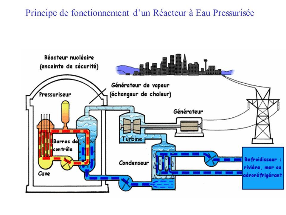 Reazione di Fissione a catena controllata Barre di COMBUSTIBILE Barre di CONTROLLO NOCCIOLO del Reattore Il nocciolo è riempito di FLUIDO REFRIGERANTE