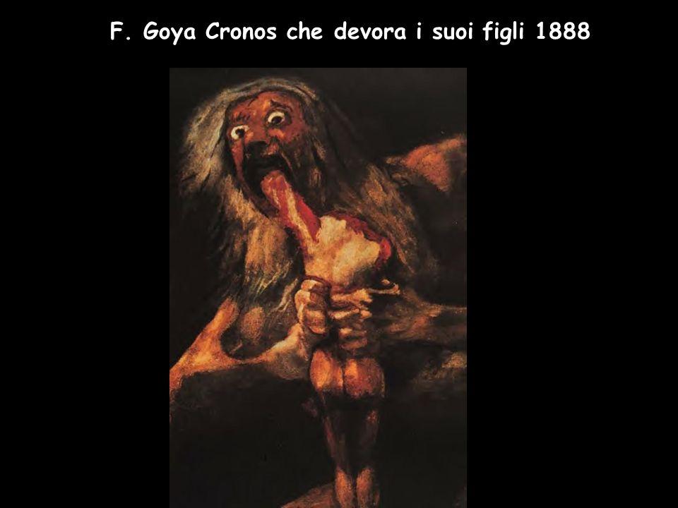 F. Goya Cronos che devora i suoi figli 1888