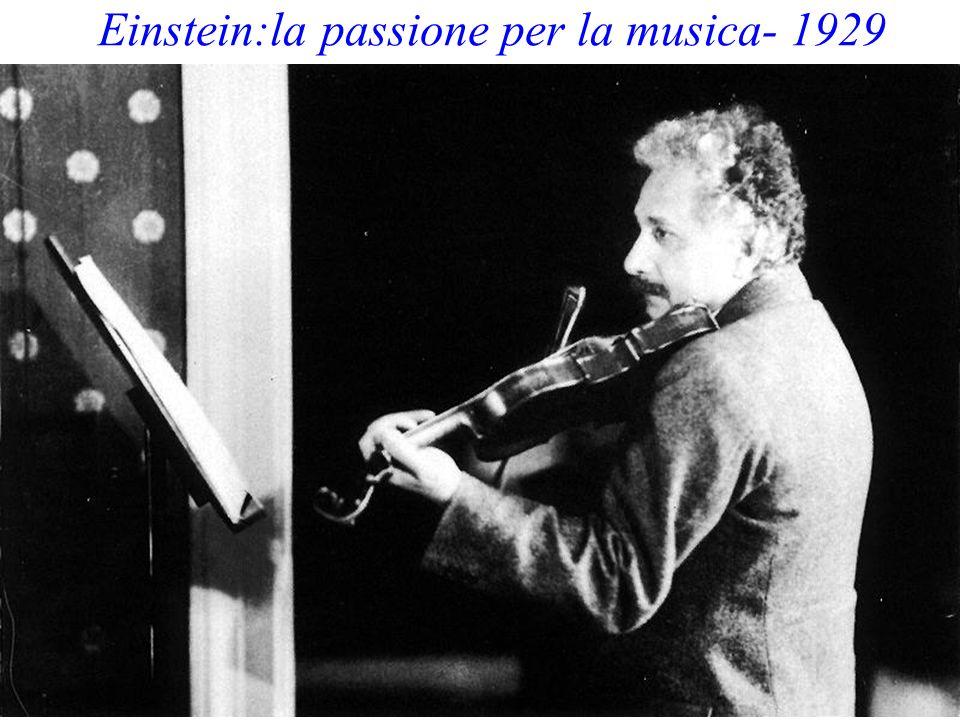 Einstein:la passione per la musica- 1929