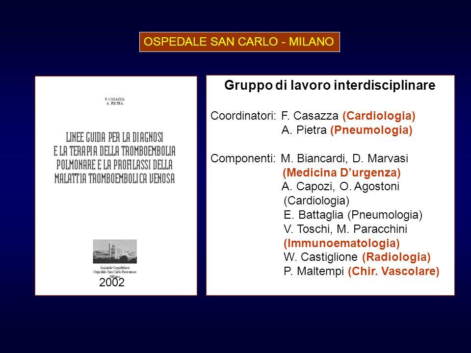 Gruppo di lavoro interdisciplinare Coordinatori: F. Casazza (Cardiologia) A. Pietra (Pneumologia) Componenti: M. Biancardi, D. Marvasi (Medicina Durge