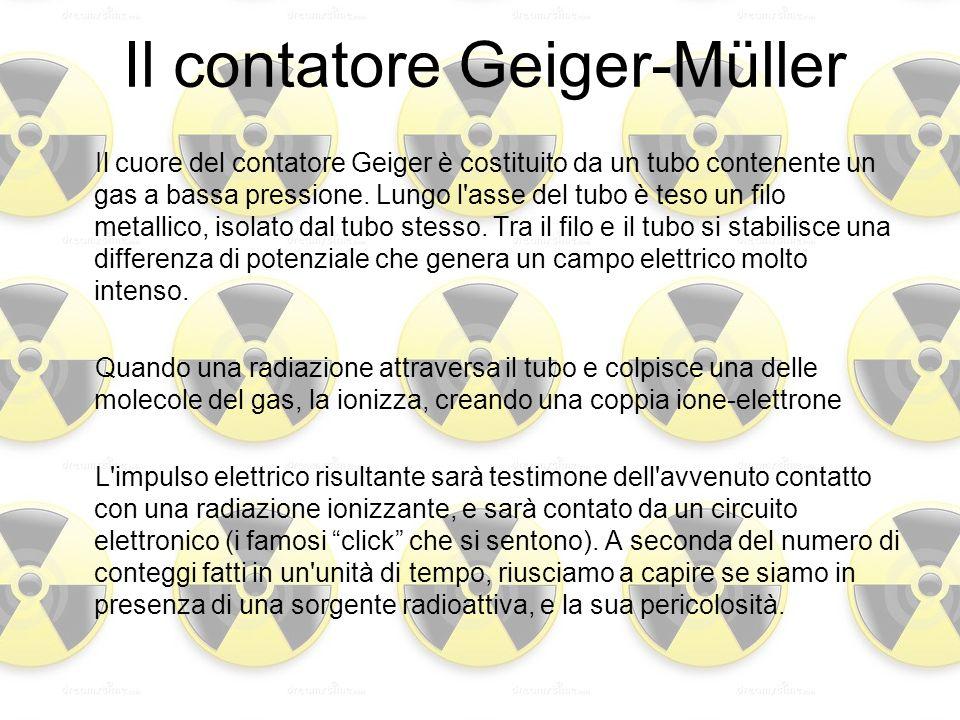Il cuore del contatore Geiger è costituito da un tubo contenente un gas a bassa pressione. Lungo l'asse del tubo è teso un filo metallico, isolato dal