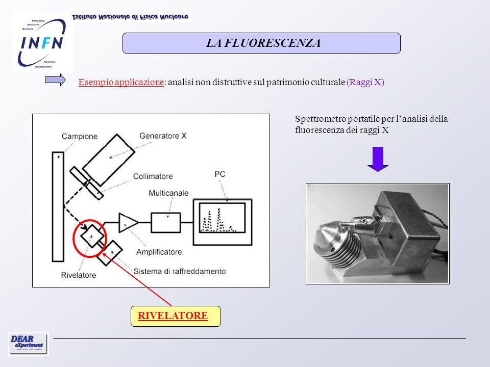 Esempio applicazione: analisi non distruttive sul patrimonio culturale (Raggi X) RIVELATORE Spettrometro portatile per lanalisi della fluorescenza dei