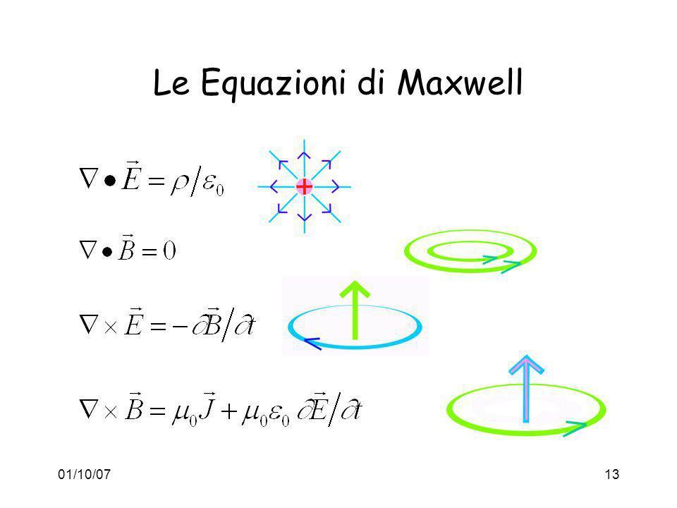 01/10/0713 Le Equazioni di Maxwell