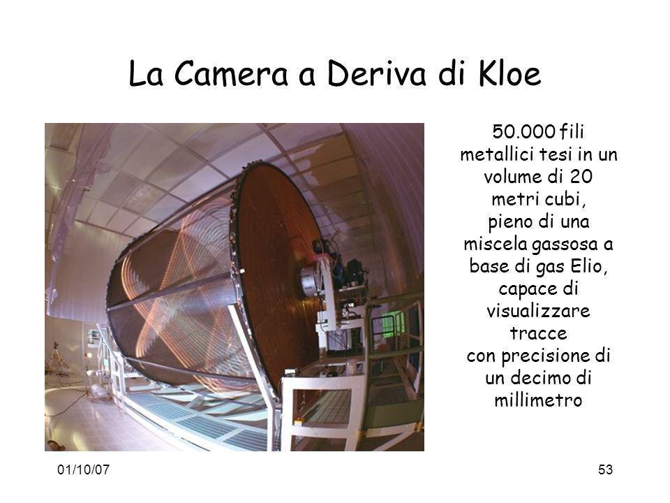 01/10/0753 La Camera a Deriva di Kloe 50.000 fili metallici tesi in un volume di 20 metri cubi, pieno di una miscela gassosa a base di gas Elio, capac