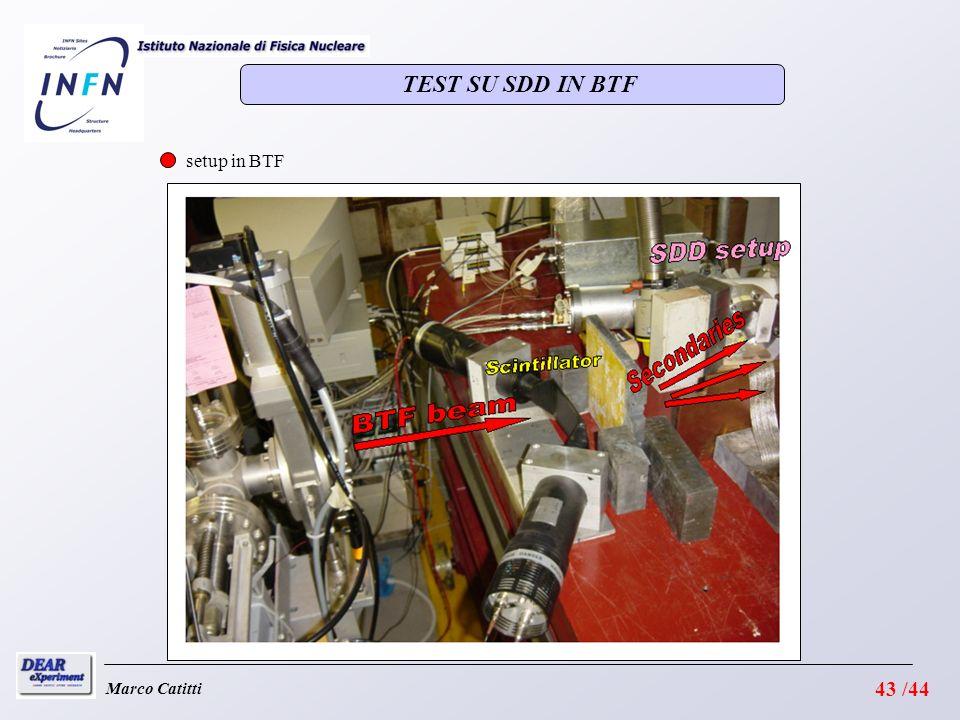 Marco Catitti setup in BTF TEST SU SDD IN BTF 43 /44