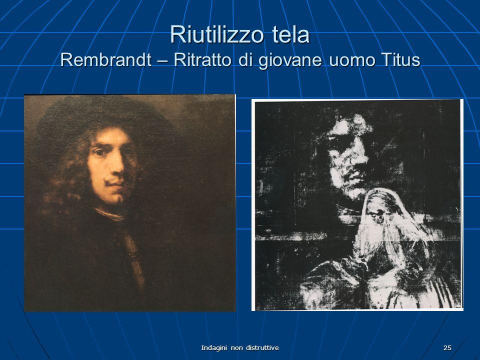 Indagini non distruttive25 Riutilizzo tela Rembrandt – Ritratto di giovane uomo Titus