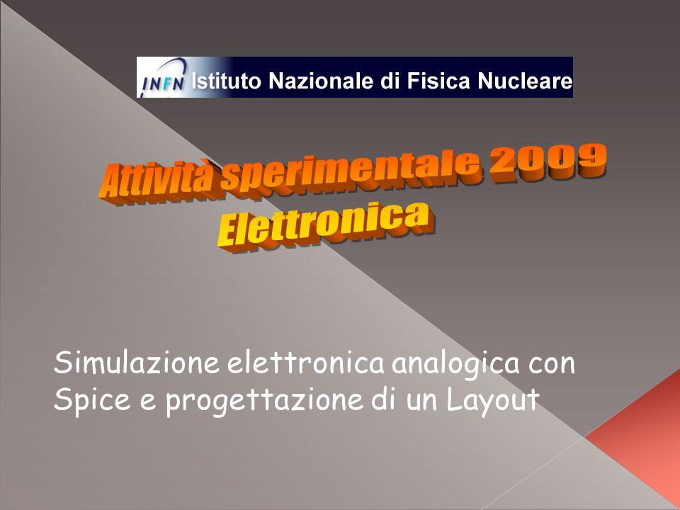 Simulazione elettronica analogica con Spice e progettazione di un Layout