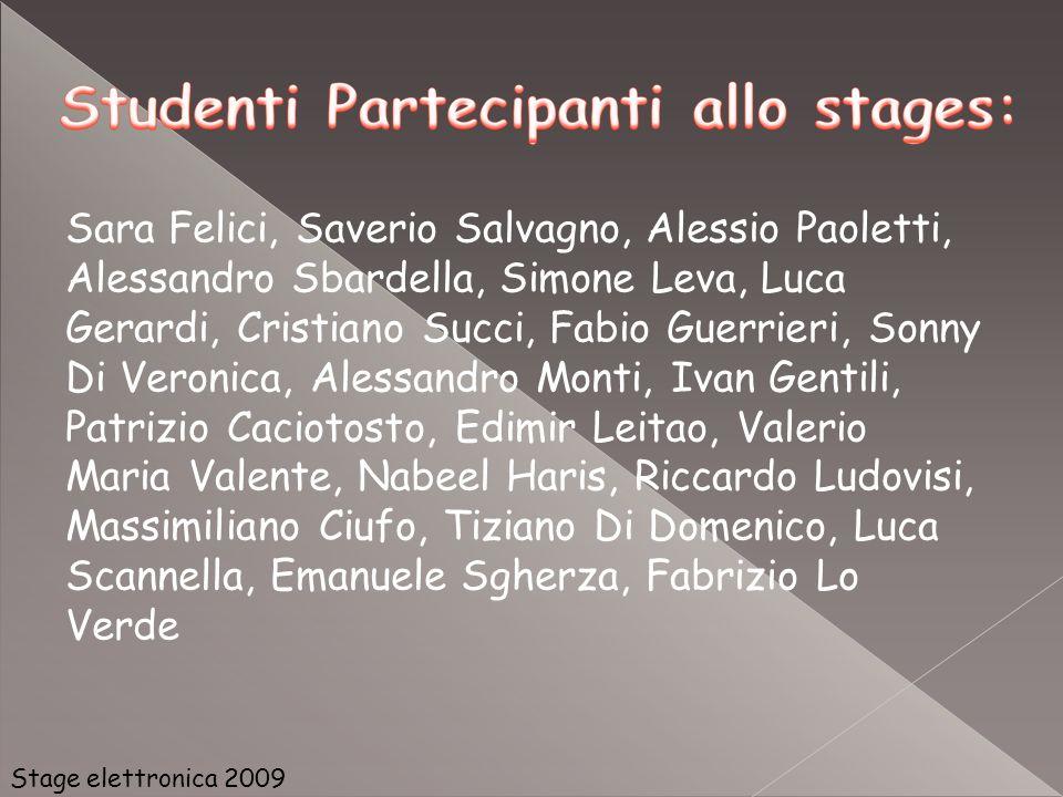 Stage elettronica 2009 Sara Felici, Saverio Salvagno, Alessio Paoletti, Alessandro Sbardella, Simone Leva, Luca Gerardi, Cristiano Succi, Fabio Guerri