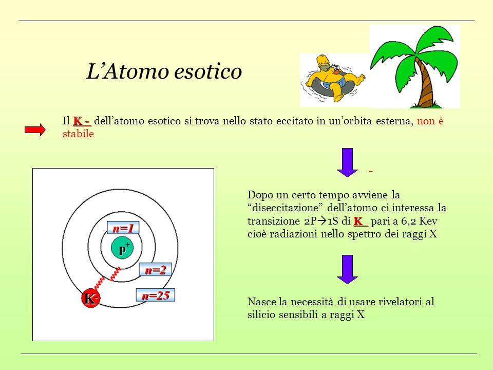 Dear e un esperimento che studia latomo esotico in DAFNE KAONE Latomo esotico ha al posto dellelettrone un particella chiamata KAONE Idrogeno Idrogeno