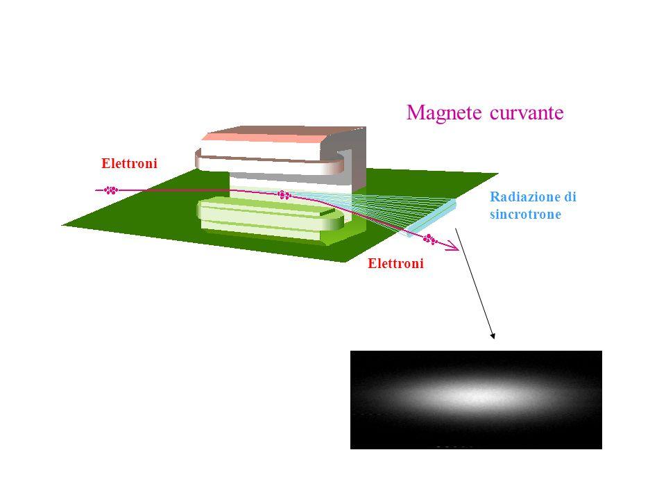 Elettroni Radiazione di sincrotrone Elettroni Magnete curvante