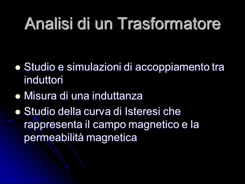 Analisi di un Trasformatore Studio e simulazioni di accoppiamento tra induttori Studio e simulazioni di accoppiamento tra induttori Misura di una indu