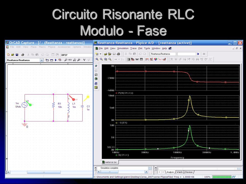 Circuito Risonante RLC Modulo - Fase