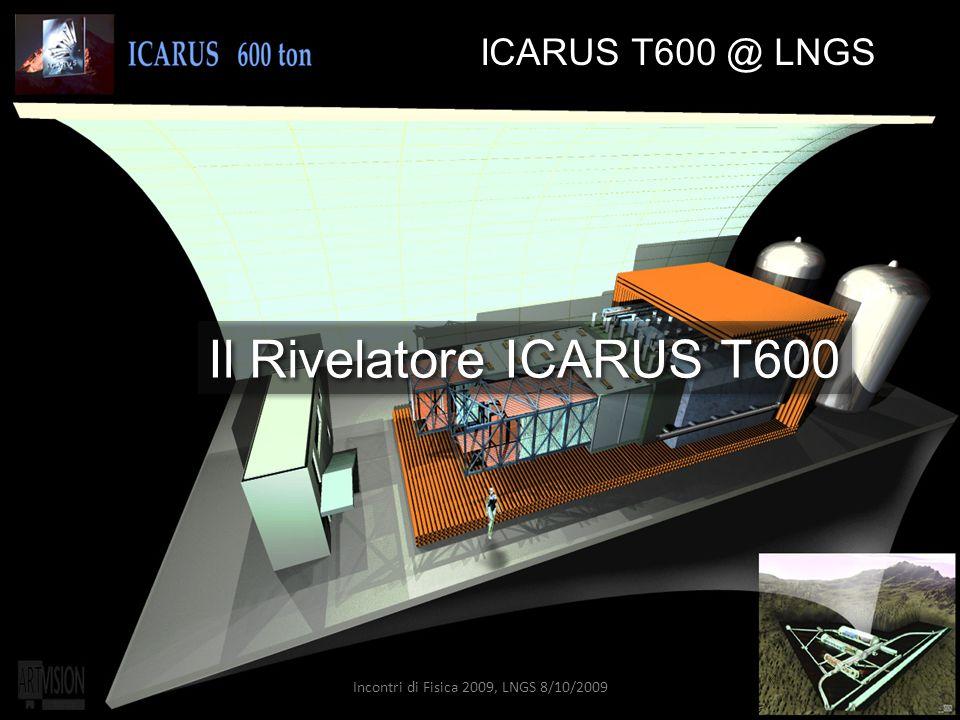 8 ICARUS T600 @ LNGS Il Rivelatore ICARUS T600 Incontri di Fisica 2009, LNGS 8/10/2009