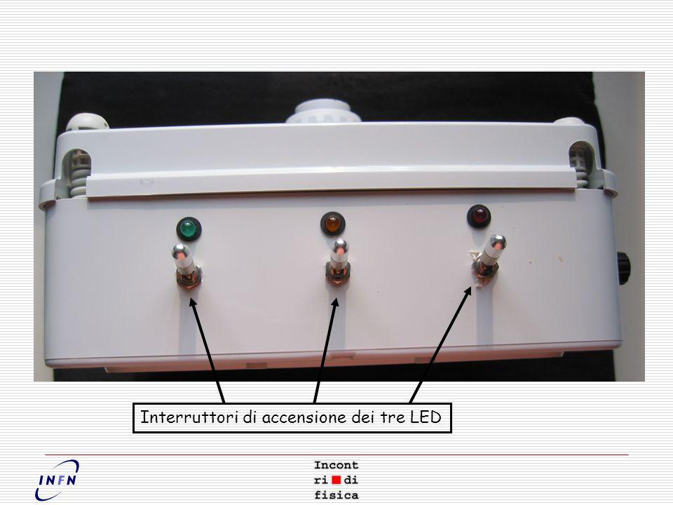 Interruttori di accensione dei tre LED