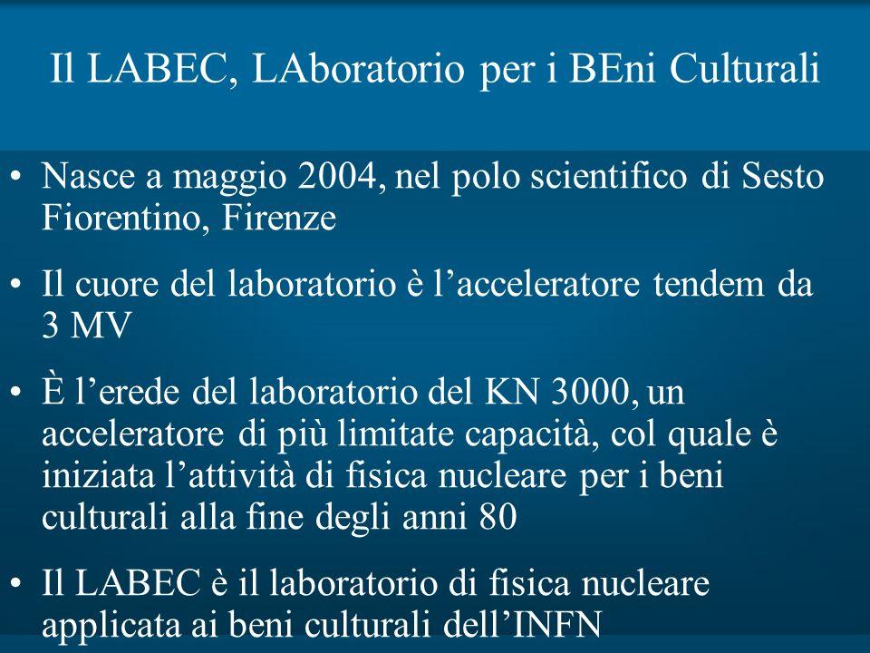 Il LABEC, LAboratorio per i BEni Culturali Nasce a maggio 2004, nel polo scientifico di Sesto Fiorentino, Firenze Il cuore del laboratorio è laccelera
