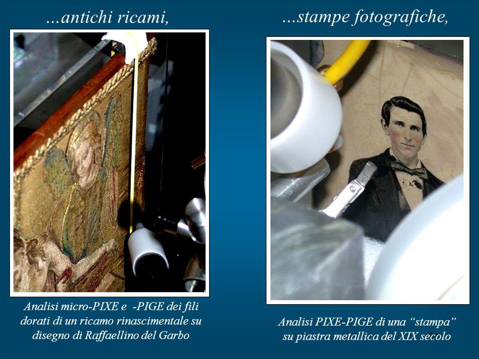 54 …antichi ricami, Analisi micro-PIXE e -PIGE dei fili dorati di un ricamo rinascimentale su disegno di Raffaellino del Garbo …stampe fotografiche, A