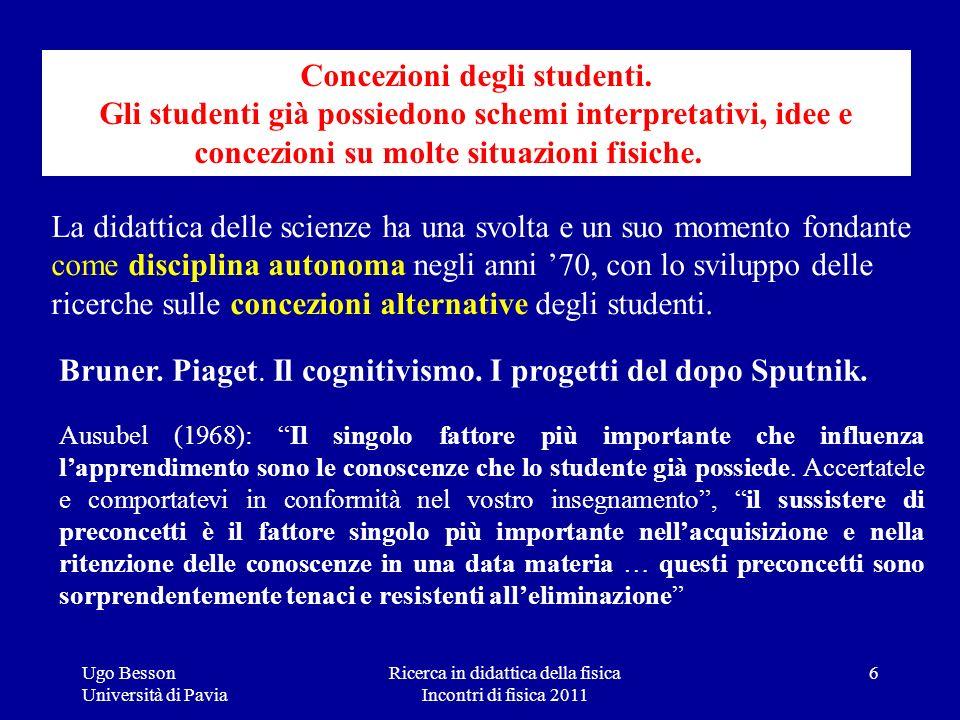 Ricerca in didattica della fisica Incontri di fisica 2011 Ugo Besson Università di Pavia La didattica delle scienze ha una svolta e un suo momento fon