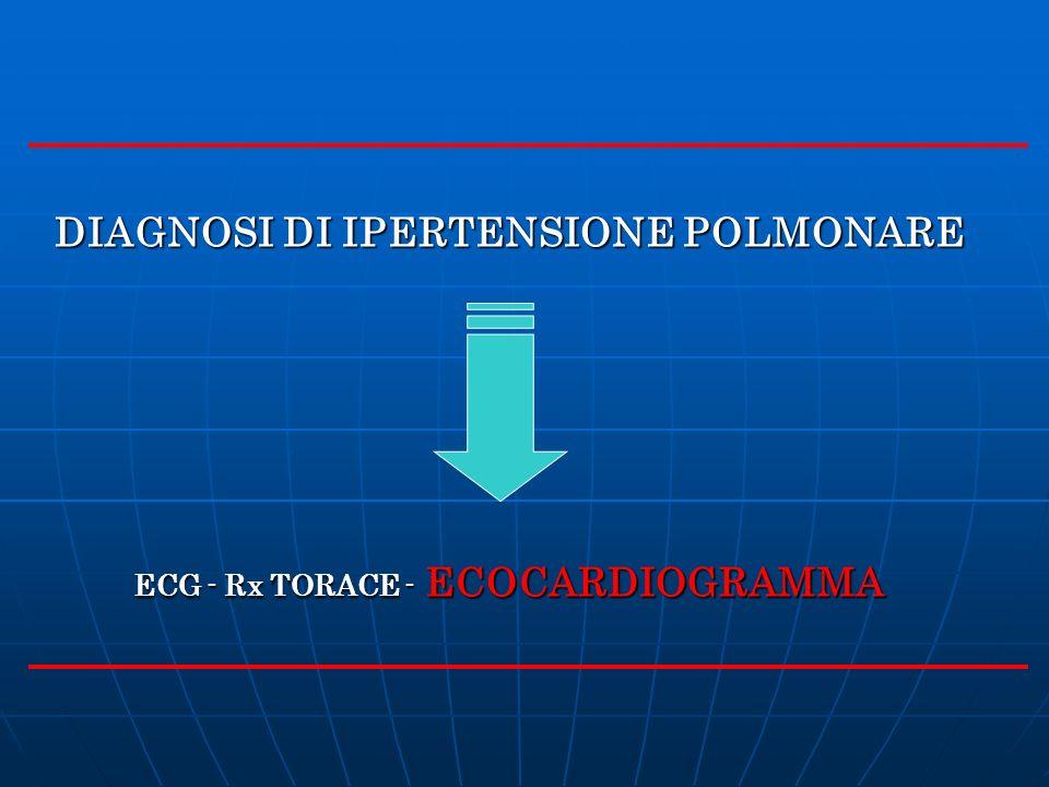 DIAGNOSI DI IPERTENSIONE POLMONARE ECG - Rx TORACE - ECOCARDIOGRAMMA