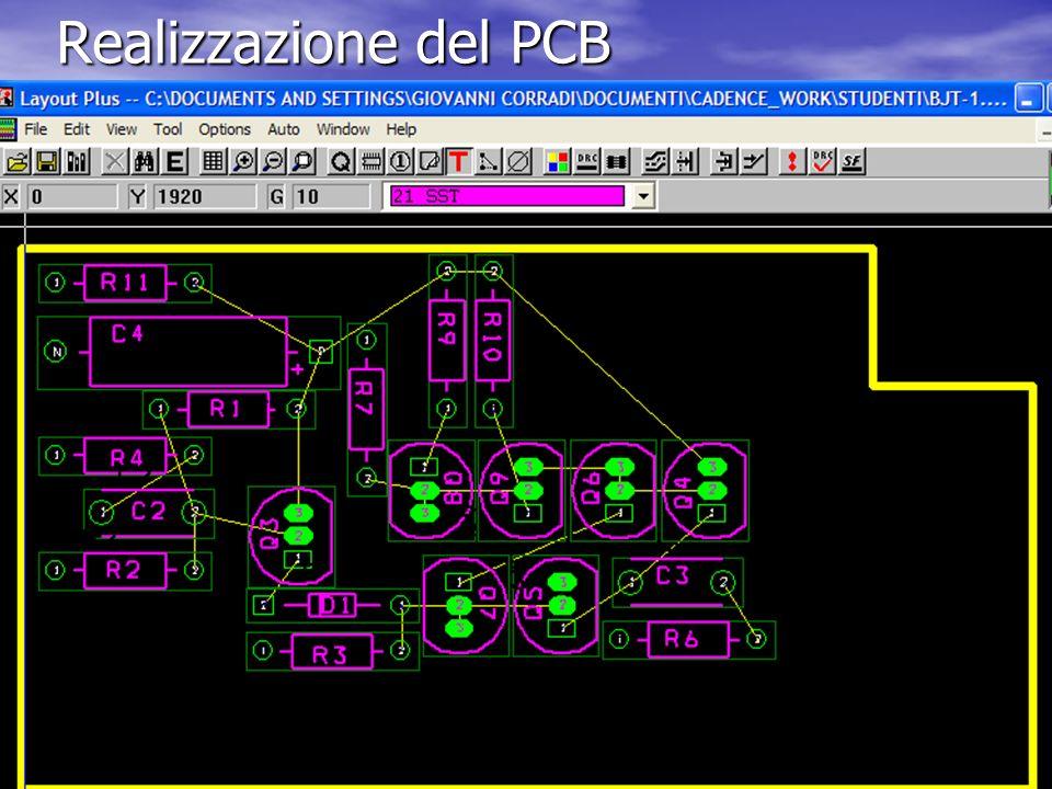 Realizzazione del PCB