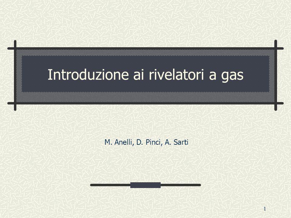 1 Introduzione ai rivelatori a gas M. Anelli, D. Pinci, A. Sarti