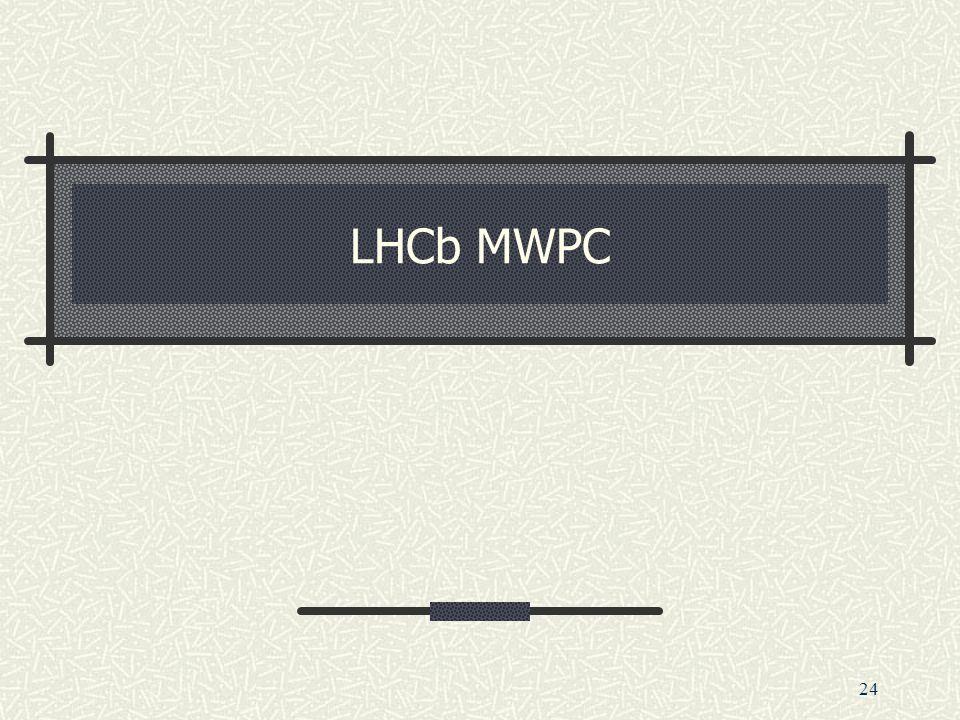 24 LHCb MWPC