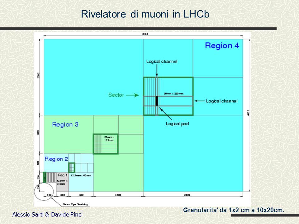Alessio Sarti & Davide Pinci Granularita da 1x2 cm a 10x20cm. Rivelatore di muoni in LHCb