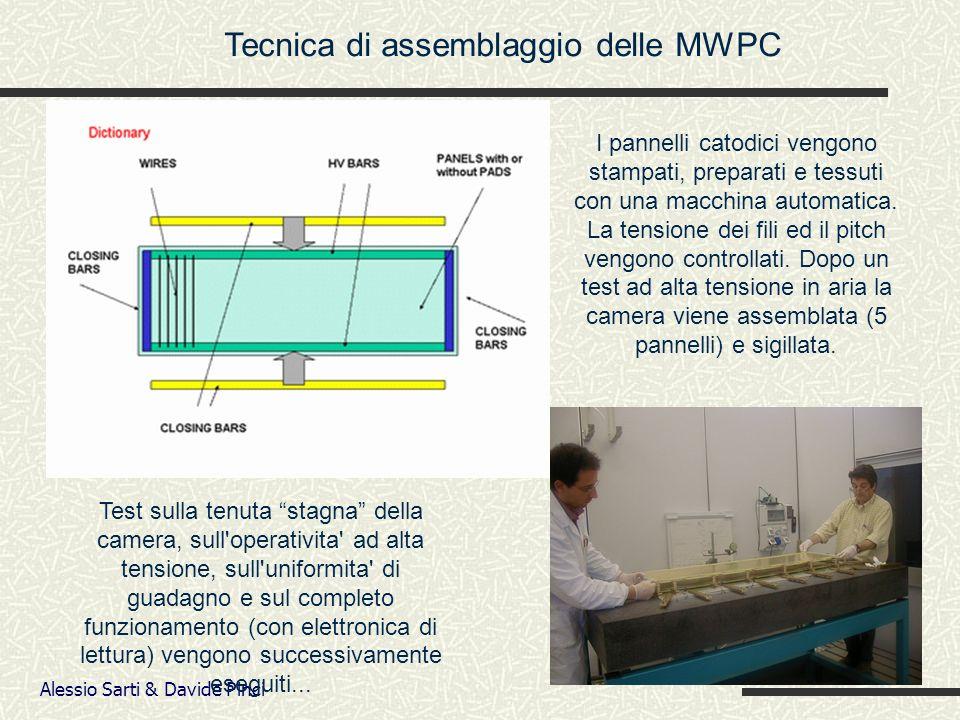 Alessio Sarti & Davide Pinci Tecnica di assemblaggio delle MWPC I pannelli catodici vengono stampati, preparati e tessuti con una macchina automatica.