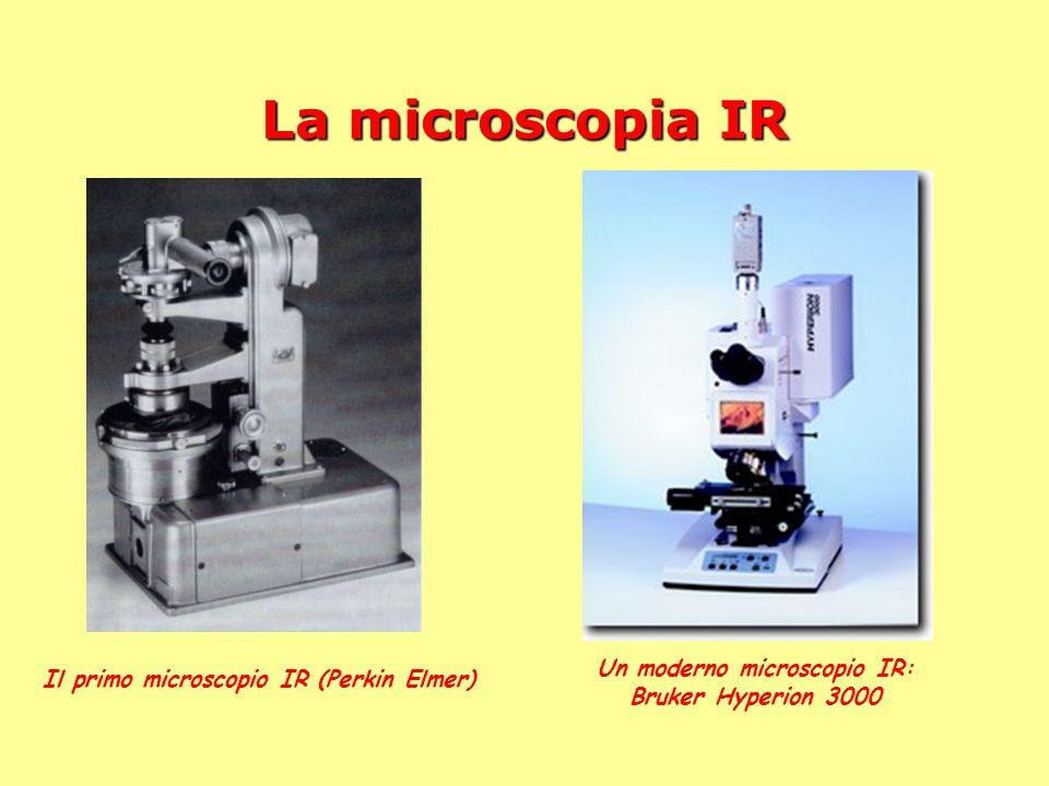 La microscopia IR Il primo microscopio IR (Perkin Elmer) Un moderno microscopio IR: Bruker Hyperion 3000