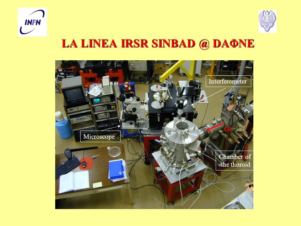 LA LINEA IRSR SINBAD @ DA NE Interferometer Microscope Chamber of the thoroid SR