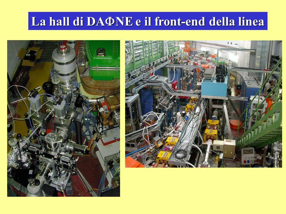 La hall di DA NE e il front-end della linea