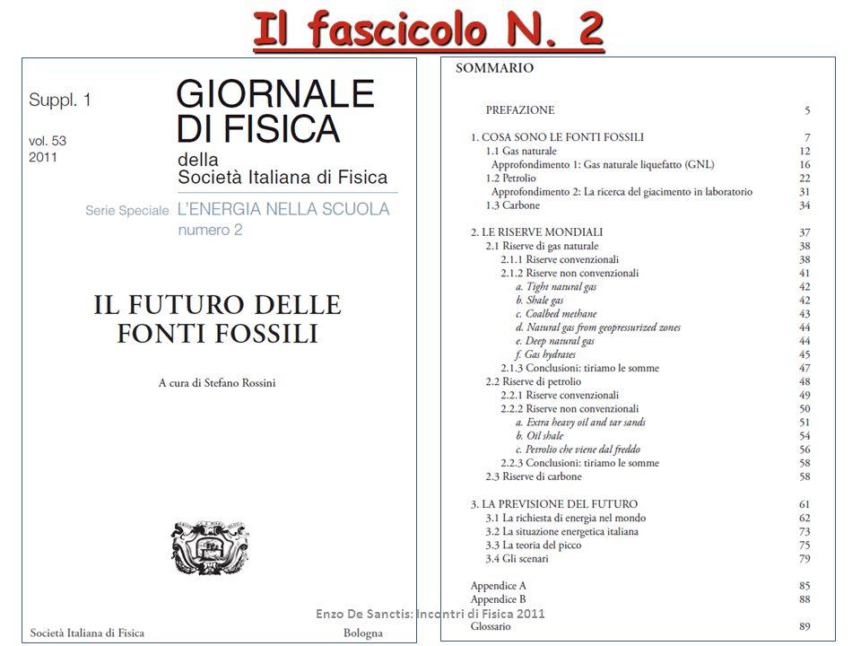 Frascati 07/10/201111 Il fascicolo N. 2 Enzo De Sanctis: Incontri di Fisica 2011