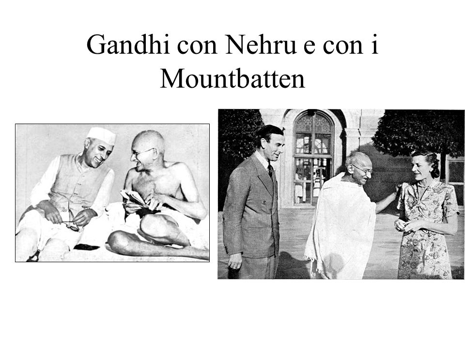 La Guerra Gandhi e Nehru mentre leggono la dichiarazione di guerra dellInghilterra a nome dellIndia (che non era stata consultata…)