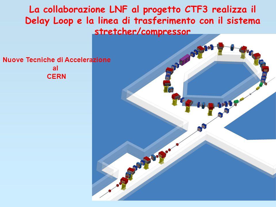 La collaborazione LNF al progetto CTF3 realizza il Delay Loop e la linea di trasferimento con il sistema stretcher/compressor Nuove Tecniche di Accelerazione al CERN