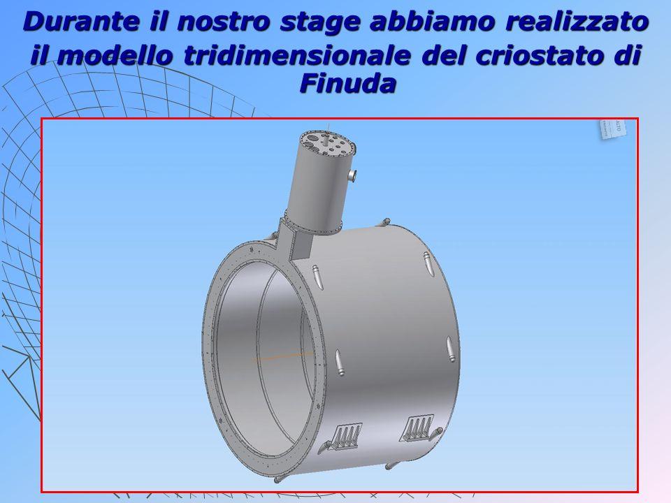 Durante il nostro stage abbiamo realizzato il modello tridimensionale del criostato di Finuda