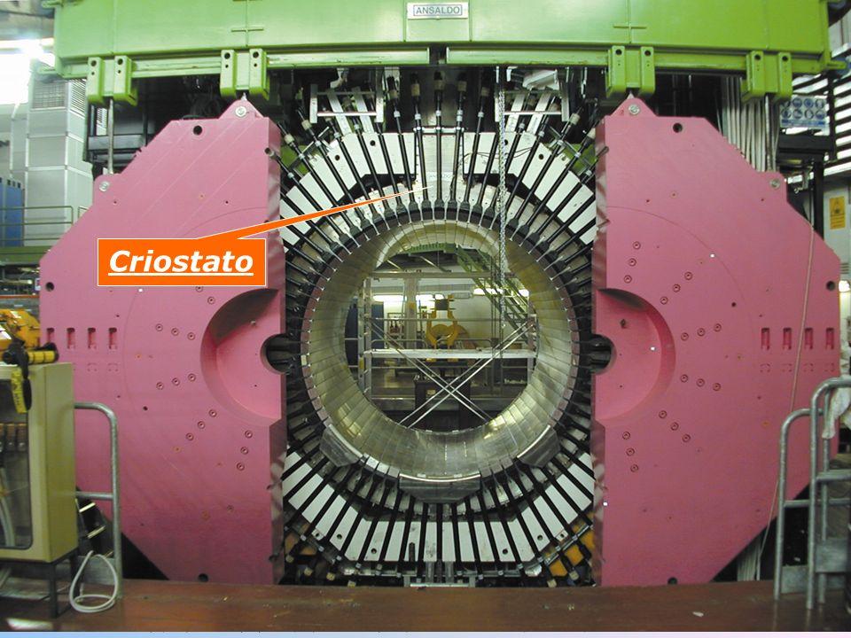 1.Thermos che contiene la bobina superconduttrice utilizzata per la generazione del campo magnetico allinterno dellesperimento FINUDA.