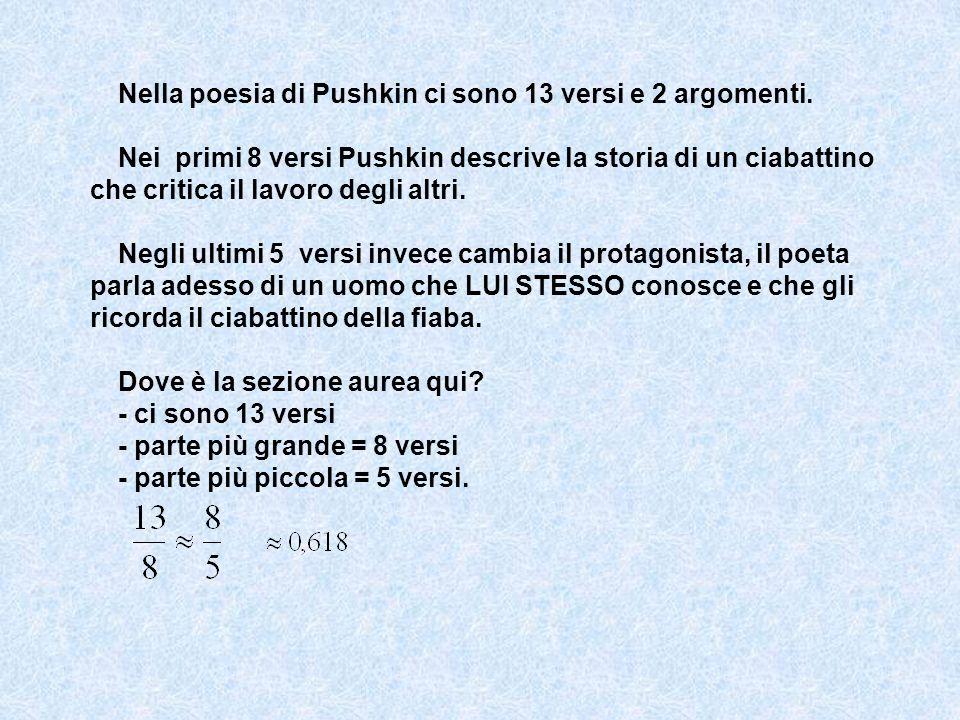 Nella poesia di Pushkin ci sono 13 versi e 2 argomenti. Nei primi 8 versi Pushkin descrive la storia di un ciabattino che critica il lavoro degli altr