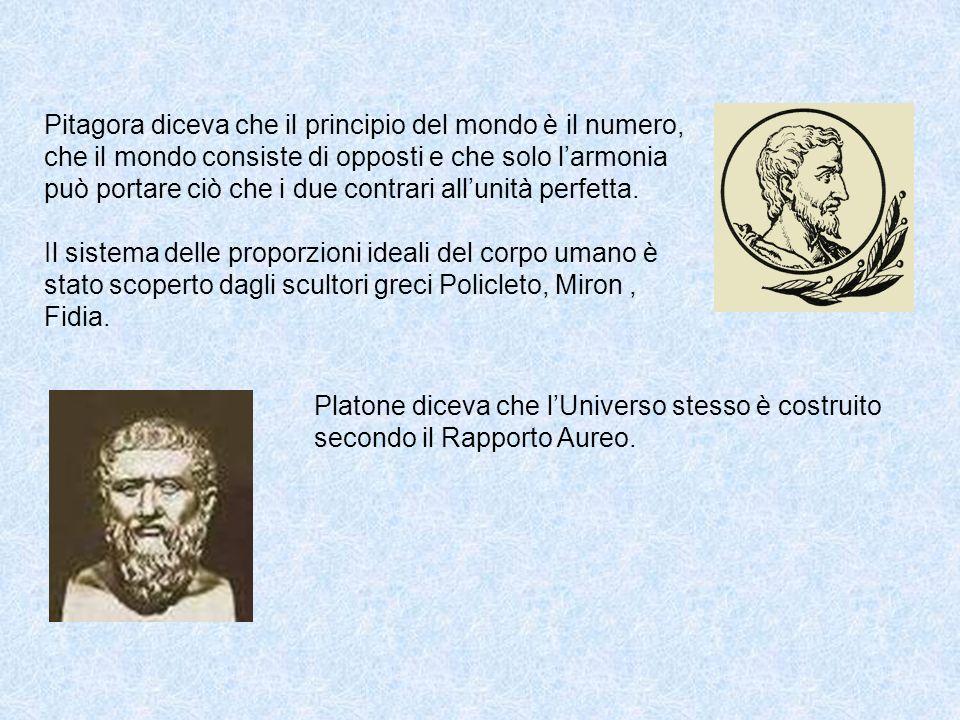 Pitagora diceva che il principio del mondo è il numero, che il mondo consiste di opposti e che solo larmonia può portare ciò che i due contrari allunità perfetta.
