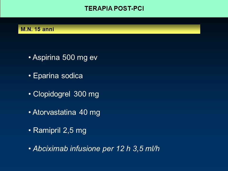 TERAPIA POST-PCI M.N.