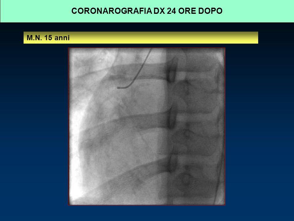 CORONAROGRAFIA DX 24 ORE DOPO M.N. 15 anni