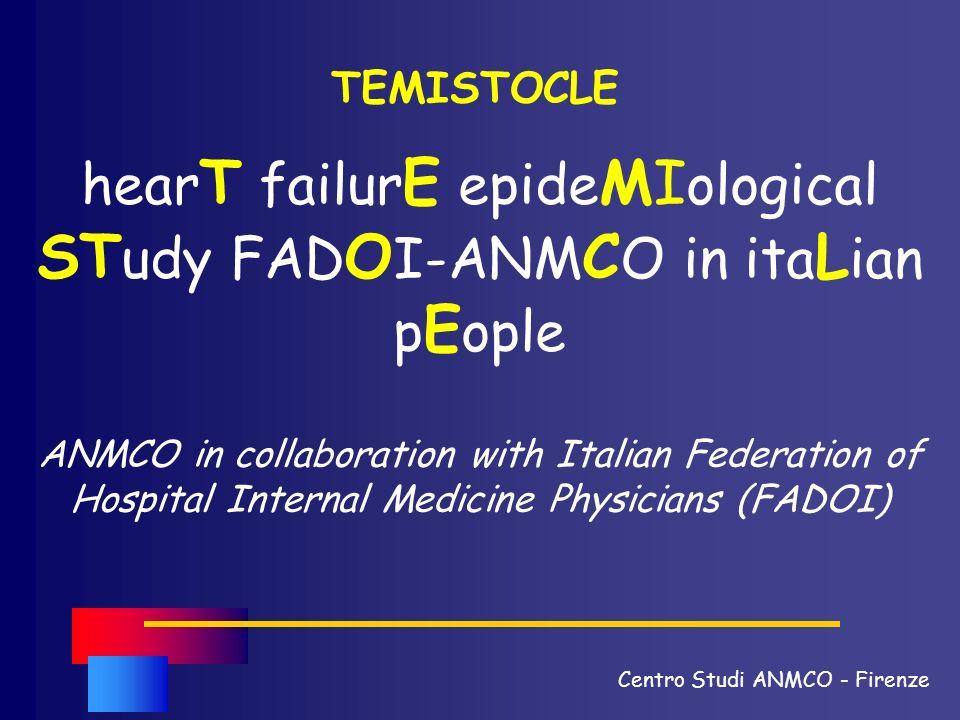 ANMCO in collaboration with Italian Federation of Hospital Internal Medicine Physicians (FADOI) TEMISTOCLE hear T failur E epide MI ological ST udy FA