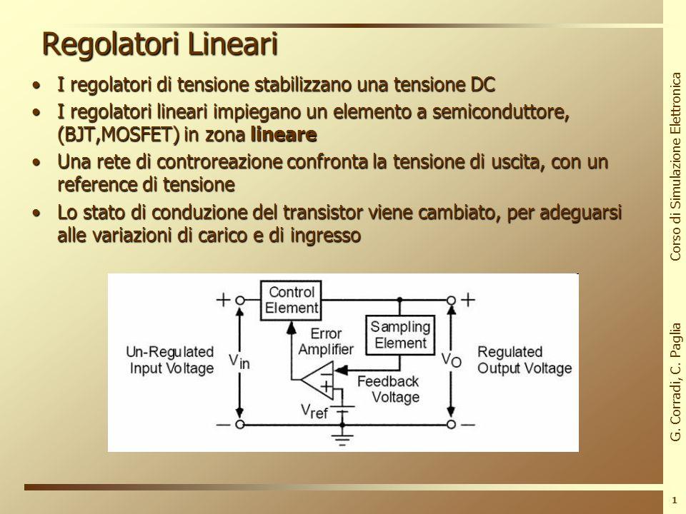 G. Corradi, C. Paglia Corso di Simulazione Elettronica Regolatori Switching INFN Laboratori Nazionali di Frascati 20/06/2011