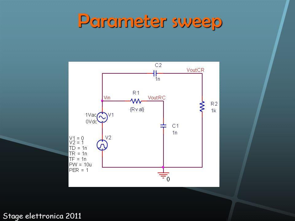 Stage elettronica 2011 Parameter sweep
