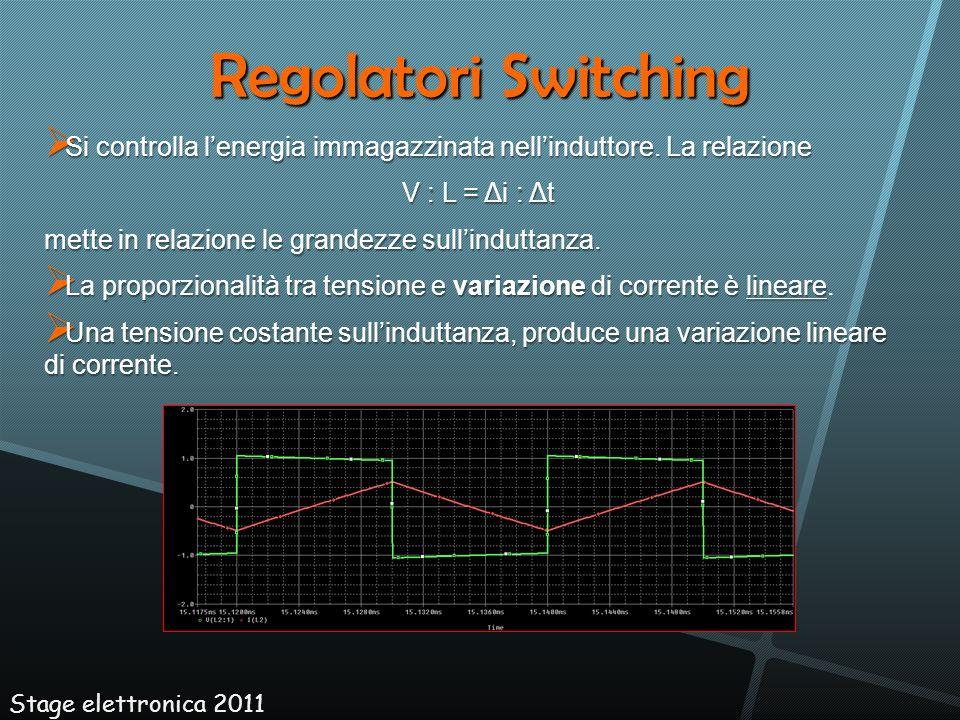 Regolatori Switching Si controlla lenergia immagazzinata nellinduttore. La relazione Si controlla lenergia immagazzinata nellinduttore. La relazione V