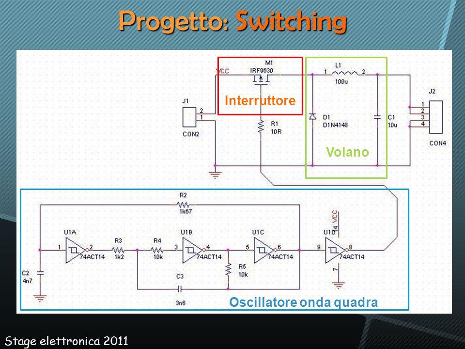 Progetto: Switching Oscillatore onda quadra Volano Interruttore